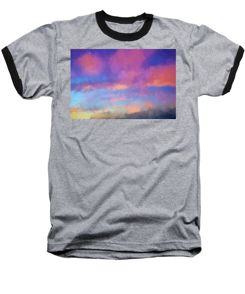 Baseball T-Shirt featuring the digital art Color Abstraction Xlviii - Sunset by Dave Gordon