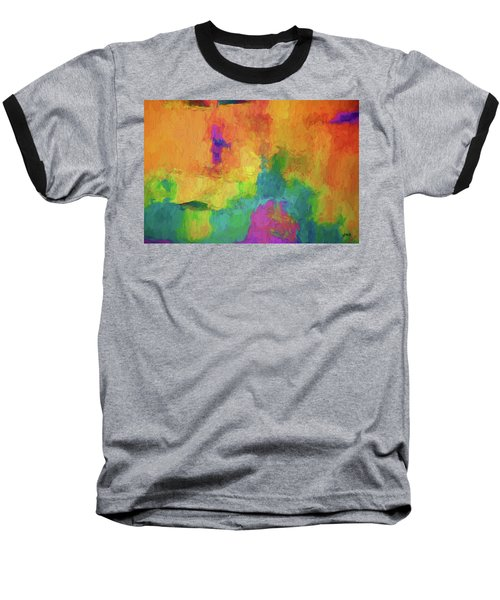 Baseball T-Shirt featuring the digital art Color Abstraction Xxxiv by David Gordon