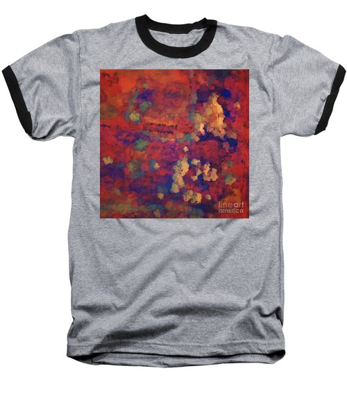 Baseball T-Shirt featuring the digital art Color Abstraction Xxxv by David Gordon