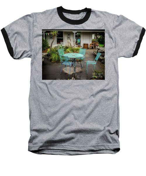 Baseball T-Shirt featuring the photograph Color At Cafe by Perry Webster