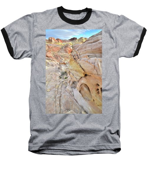 Color At Valley Of Fire State Park Baseball T-Shirt by Ray Mathis