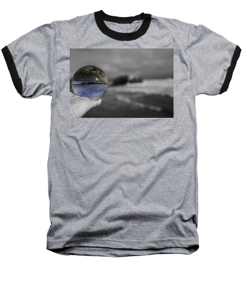 Baseball T-Shirt featuring the photograph Color Ball by Lora Lee Chapman