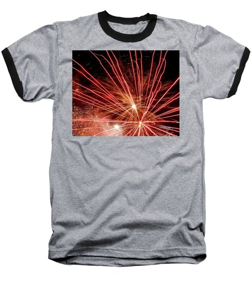 Baseball T-Shirt featuring the photograph Color Blast Fireworks #0731 by Barbara Tristan