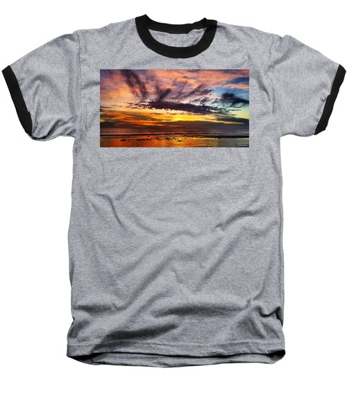 Color Burst Malibu Sunset Baseball T-Shirt