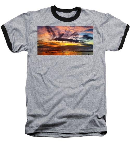 Color Burst Malibu Sunset Baseball T-Shirt