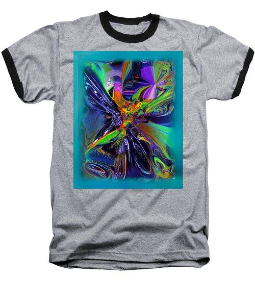 Color Burst Baseball T-Shirt by Yul Olaivar
