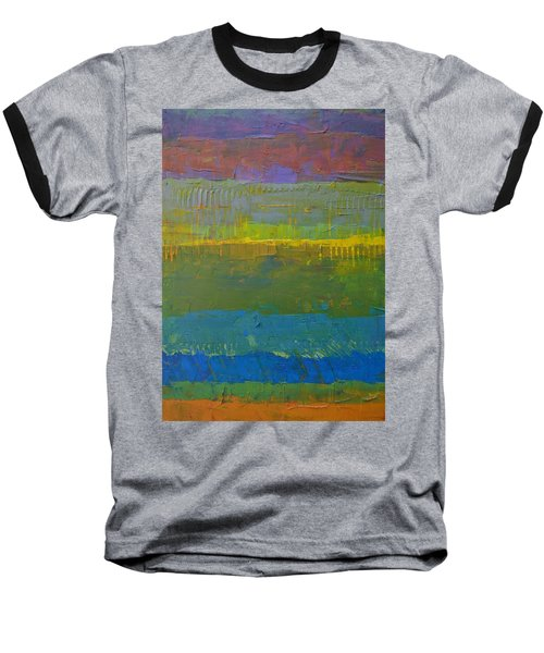 Color Collage Five Baseball T-Shirt by Michelle Calkins
