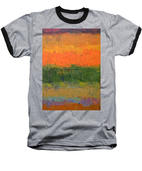 Color Collage Four Baseball T-Shirt by Michelle Calkins