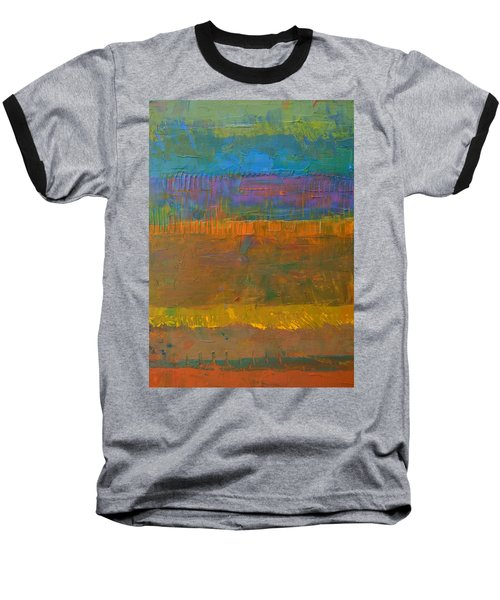 Color Collage One Baseball T-Shirt by Michelle Calkins