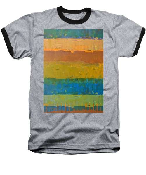 Color Collage Three Baseball T-Shirt by Michelle Calkins