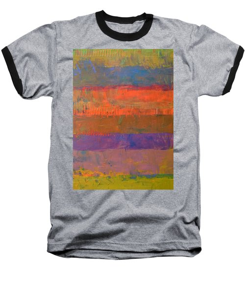 Color Collage Two Baseball T-Shirt by Michelle Calkins