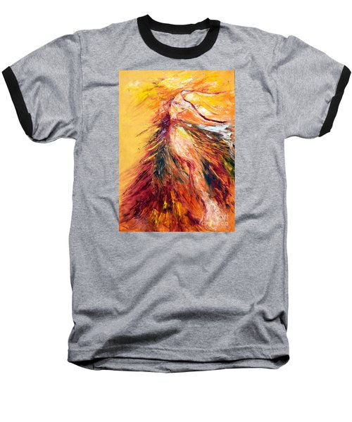 Baseball T-Shirt featuring the painting Color Dance by Marat Essex