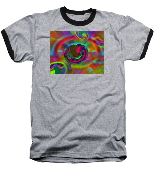Baseball T-Shirt featuring the digital art Color Dome by Lynda Lehmann