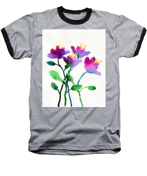 Color Flowers Baseball T-Shirt