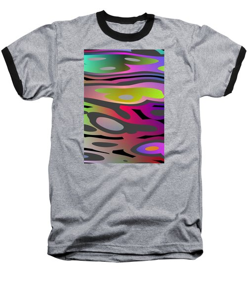 Baseball T-Shirt featuring the digital art Color Fun 1 by Jeff Iverson