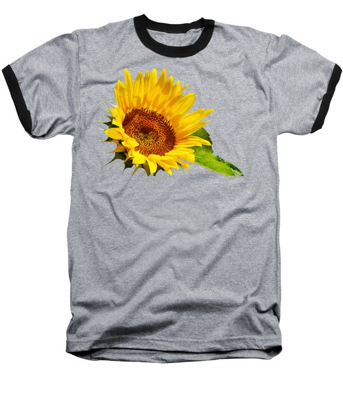 Color Me Happy Sunflower Baseball T-Shirt by Christina Rollo