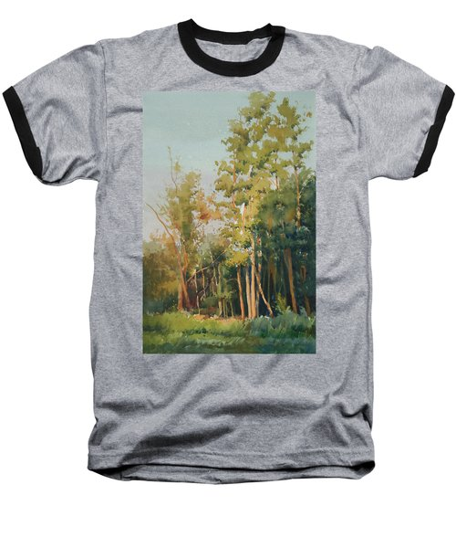 Baseball T-Shirt featuring the painting Color Of Light by Helal Uddin