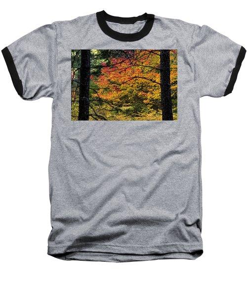Cascade Mountain Range Fall Color Baseball T-Shirt
