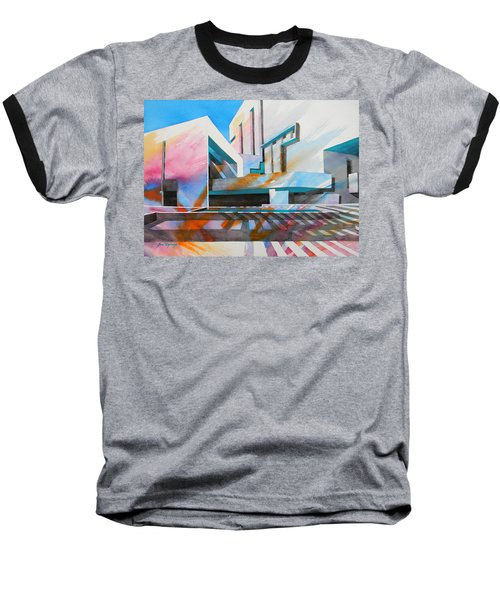 Baseball T-Shirt featuring the painting Color Simphony by J- J- Espinoza