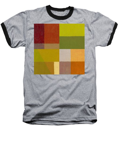 Color Study With Orange And Green Baseball T-Shirt