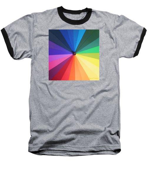 Color Wheel Baseball T-Shirt by Denise Fulmer