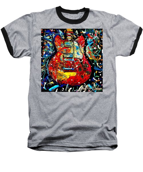 Color Wheel Guitar Baseball T-Shirt