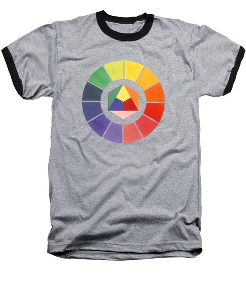 Color Wheel Baseball T-Shirt by Julio Lopez