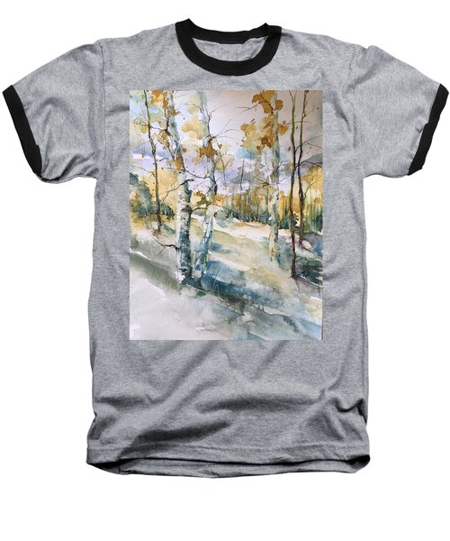 Colorado Aspens And Cottonwoods Baseball T-Shirt by Robin Miller-Bookhout