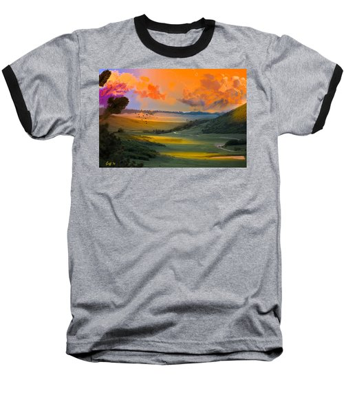 Colorado Big Valley Sunrise Baseball T-Shirt by J Griff Griffin
