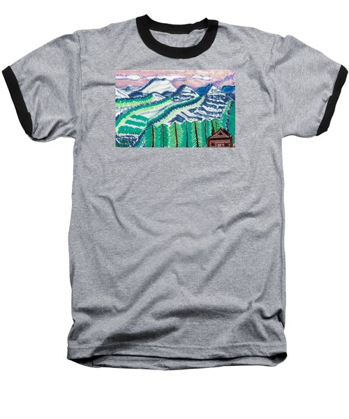 Colorado Cabin Baseball T-Shirt by Don Koester