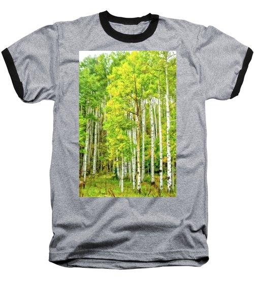 Colorado Fall Foliage Baseball T-Shirt