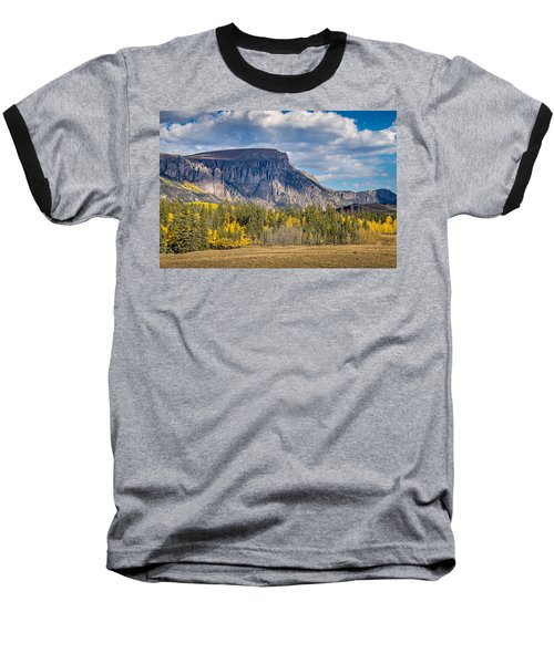 Colorado Fall Landscape With Aspen Trees Between Creede And Lake Baseball T-Shirt