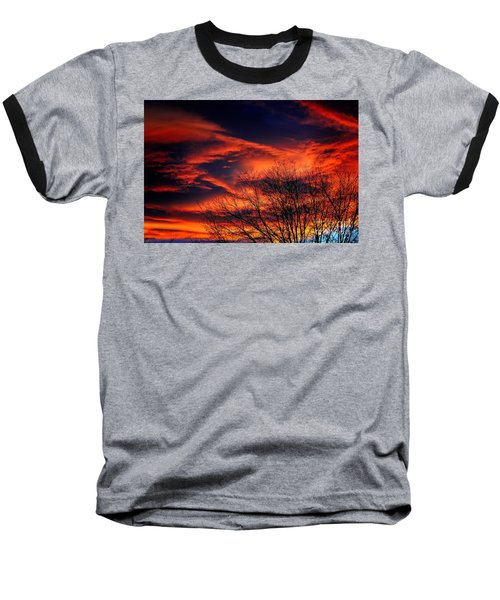 Colorado Fire In The Sky Baseball T-Shirt