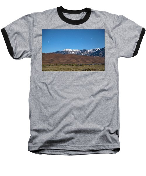 Colorado Great Sand Dunes With Falling Star Baseball T-Shirt by James BO Insogna