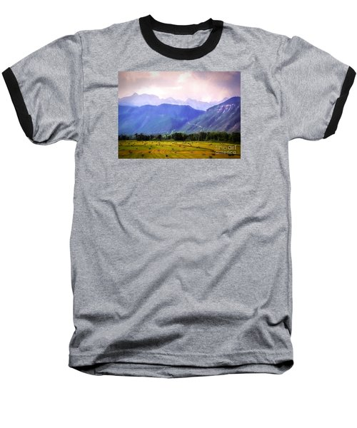 Colorado Harvest Watercolor  Baseball T-Shirt