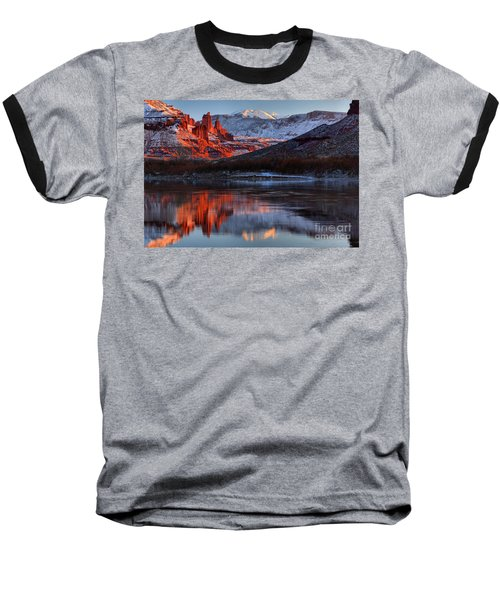 Baseball T-Shirt featuring the photograph Colorado Red Tower Reflections by Adam Jewell