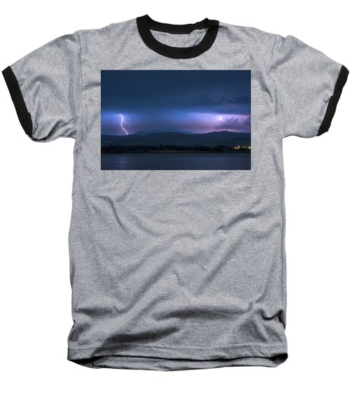 Baseball T-Shirt featuring the photograph Colorado Rocky Mountain Foothills Storm by James BO Insogna