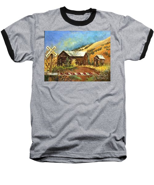 Colorado Shed Baseball T-Shirt by Linda Shackelford