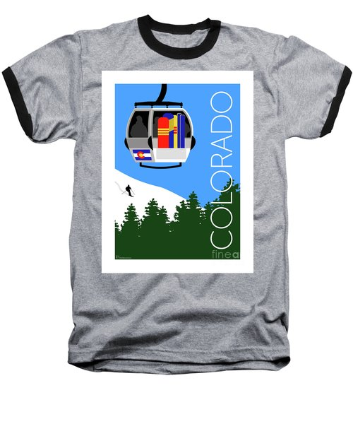 Colorado Ski Country Blue Baseball T-Shirt