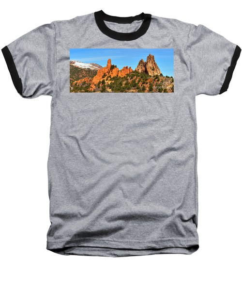 Baseball T-Shirt featuring the photograph Colorado Springs Garden Of The Gods High Point Panorama by Adam Jewell