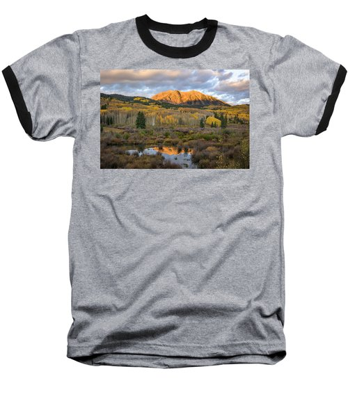 Baseball T-Shirt featuring the photograph Colorado Sunrise by Phyllis Peterson