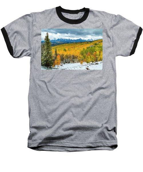 Colorado Valley Of Autumn Color Baseball T-Shirt by Teri Virbickis
