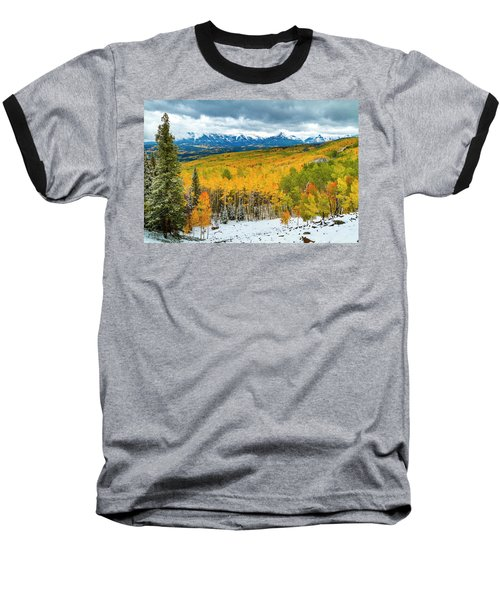 Colorado Valley Of Autumn Color Baseball T-Shirt