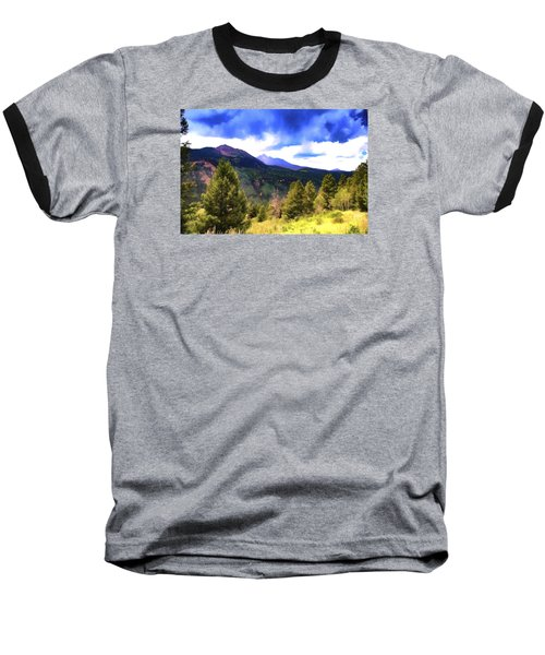 Colorado Watercolor Baseball T-Shirt