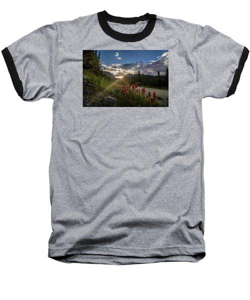 Colorado Wildflowers Under Evening Sun Baseball T-Shirt