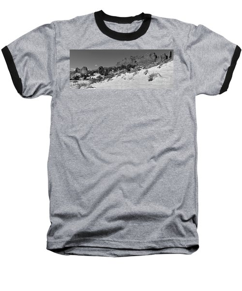 Baseball T-Shirt featuring the photograph Colorado Winter Rock Garden Black And White by Adam Jewell