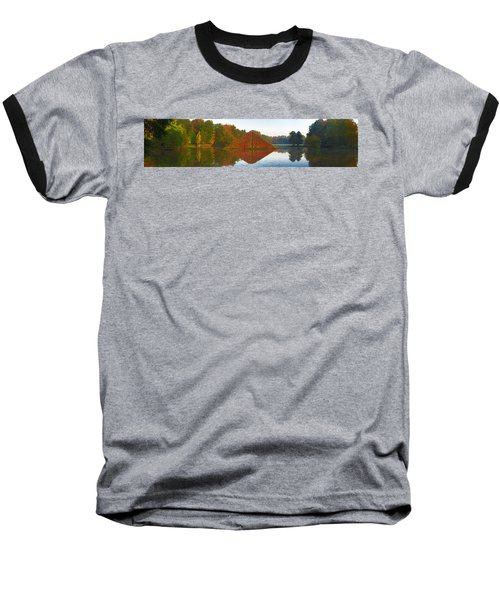 Colored Lake Pyramid Baseball T-Shirt