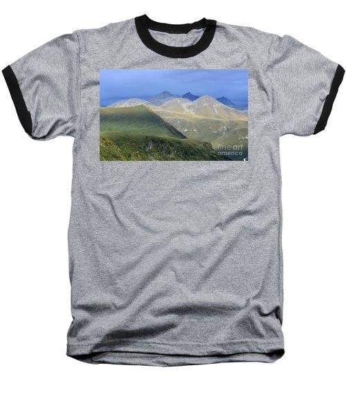 Colored Peaks Of The Caucasus Baseball T-Shirt by Arik Baltinester