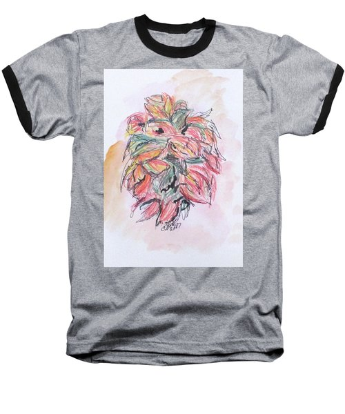Colored Pencil Flowers Baseball T-Shirt
