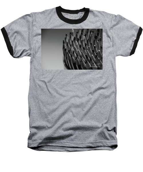 Colored Pencils - Black And White Baseball T-Shirt